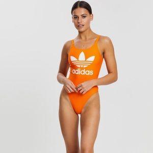 Adidas Swimsuit Trefoil Swim Orange Logo 1 piece